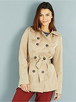 Trench, imper - Trench-coat doublé vichy - Kiabi