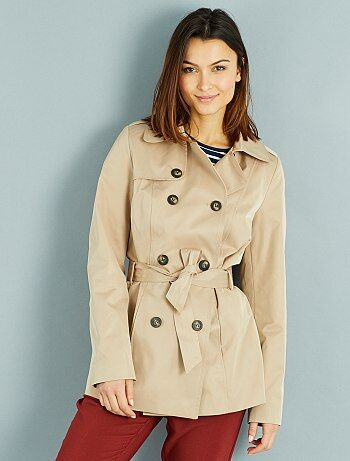 Trench coat doublé vichy
