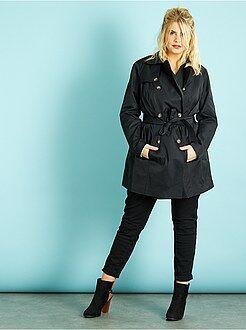 Manteau, veste taille 46/48 - Trench satiné avec ceinture