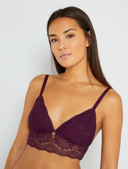 Triangle dentelle bijou                                         violet
