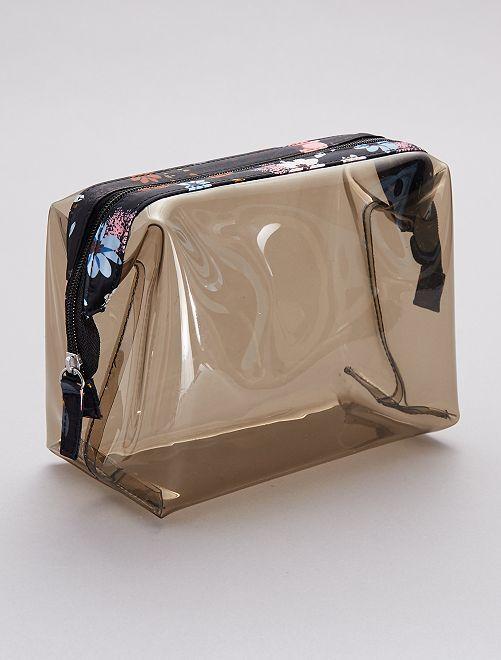 Trousse de toilette transparente                             noir
