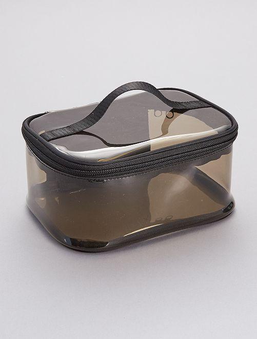 Trousse de toilette transparente                             noir/transparent