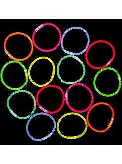 Tube 15 bracelets lumineux - Kiabi