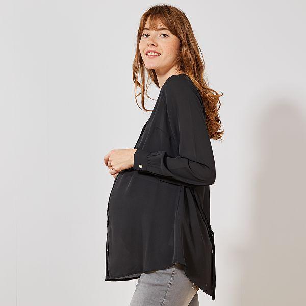 meilleur service f132e d6436 Tunique de maternité fluide avec ceinture Vêtement de ...