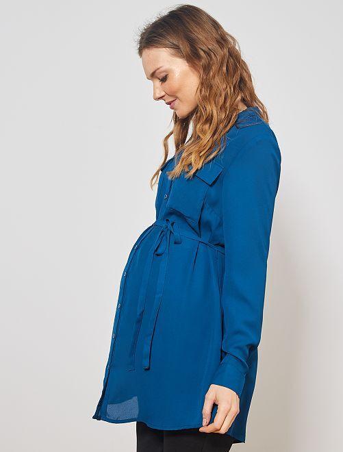 Tunique longue de grossesse                                         bleu