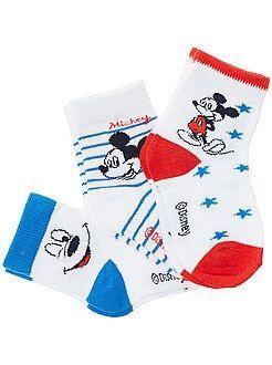 Chaussettes, collants - Un lot de 3 paires de chaussettes motif 'Mickey' ! - Kiabi