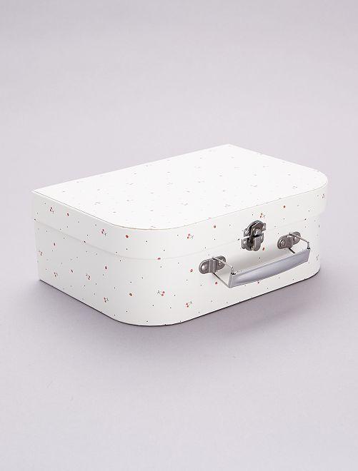 Valisette en carton                                         blanc cerise
