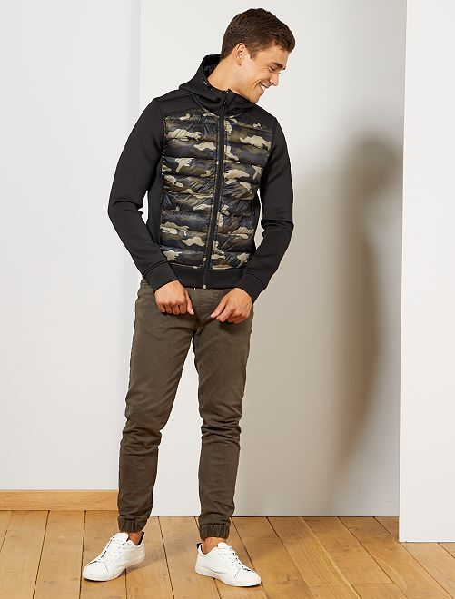 Veste bi-matière                                                                 camouflage