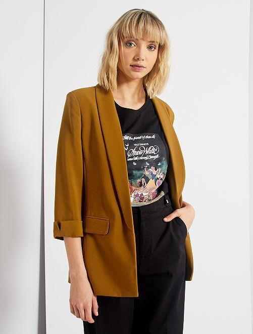 Veste blazer col droit                                                                                                                                                                                         brun