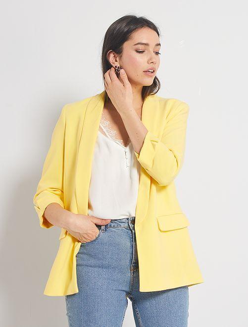 Veste blazer col droit                                                                                                                                                                                         jaune