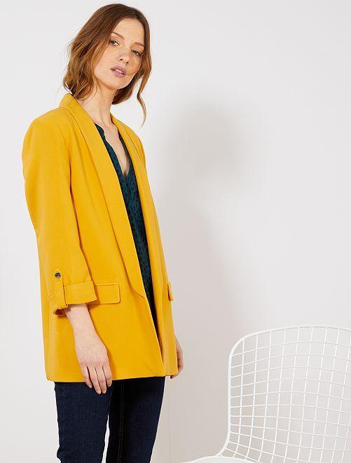 Veste blazer col droit                                                                                         jaune Femme