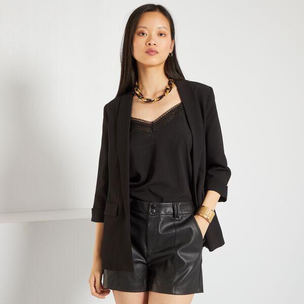 Veste blazer col droit Femme bordeaux Kiabi 25,00€