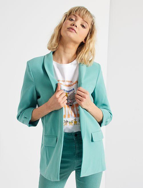 Veste blazer col droit                                                                                                                                                                                         vert amande