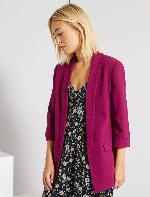 Veste blazer col droit                                                                                                                                         violet