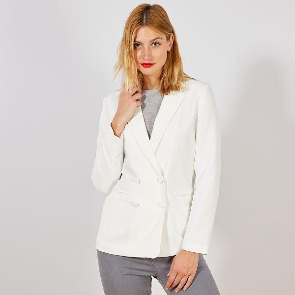 taille 7 styles de mode sensation de confort Veste blazer double boutonnage