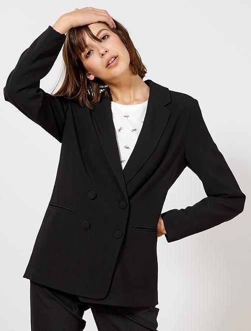 Veste blazer double boutonnage                                                                 noir Femme