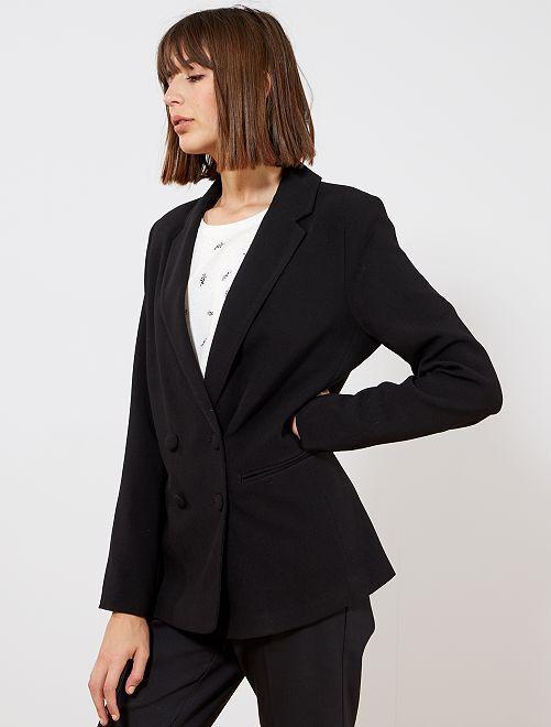 7551180e9c28 Veste blazer double boutonnage Femme - bleu - Kiabi - 25