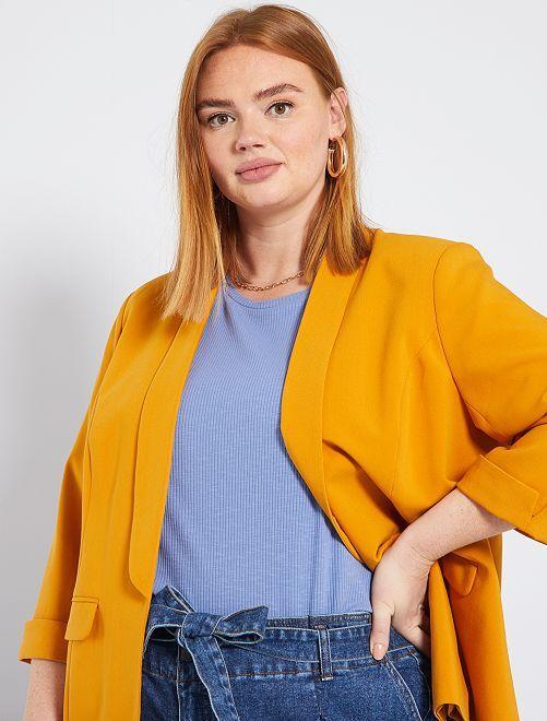 Veste blazer                                                                                         jaune moutarde