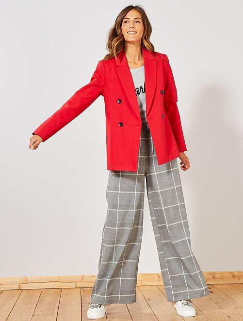 Veste blazer                             rouge Femme