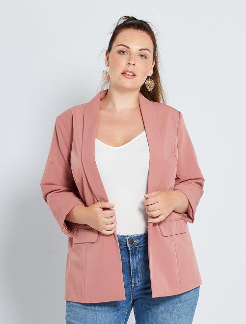 Veste blazer sans boutons                                                                             rose