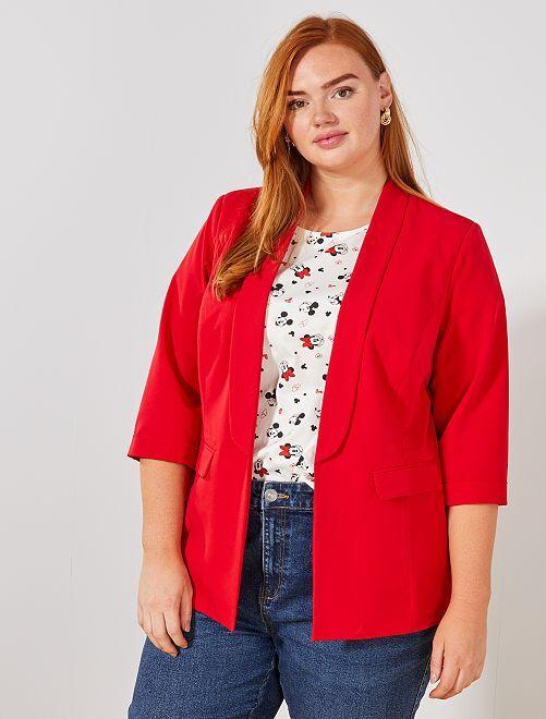 Veste blazer sans boutons                                                                 rouge Grande taille femme
