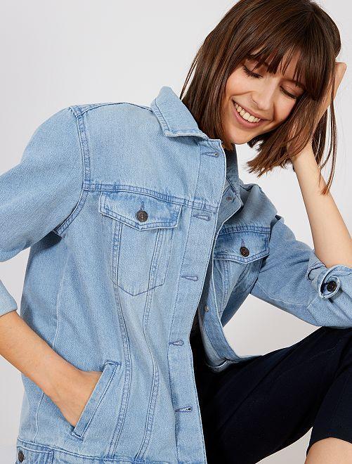 Veste boyfriend en jean                                         bleu Femme