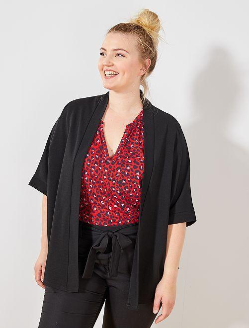 Veste coupe kimono                                         noir Grande taille femme