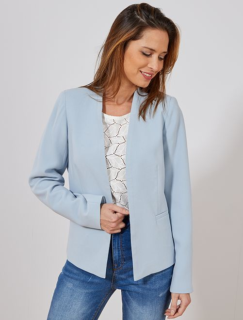 Veste courte de tailleur                                                                 bleu gris Femme
