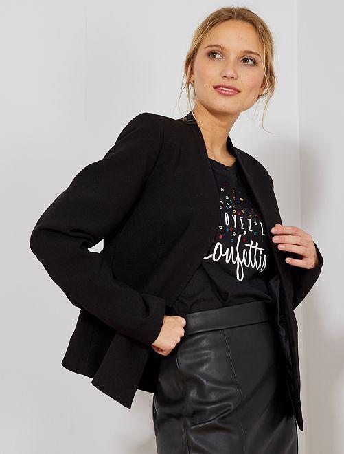 Veste courte de tailleur                                                                 noir Femme