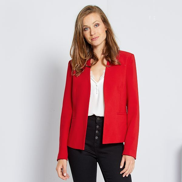 Veste courte de tailleur Femme - rouge -