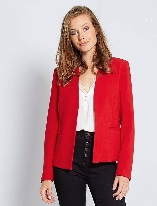 Veste courte de tailleur                                                                 rouge Femme