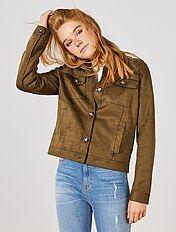 Veste en jean sans manche femme gemo