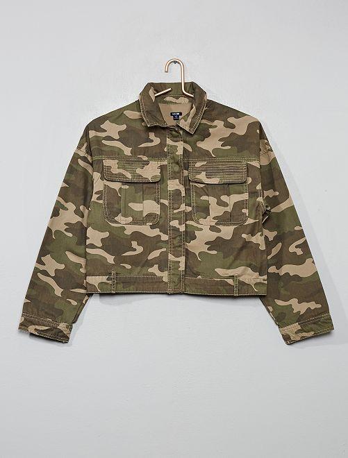 Veste courte en toile                                                                 camouflage