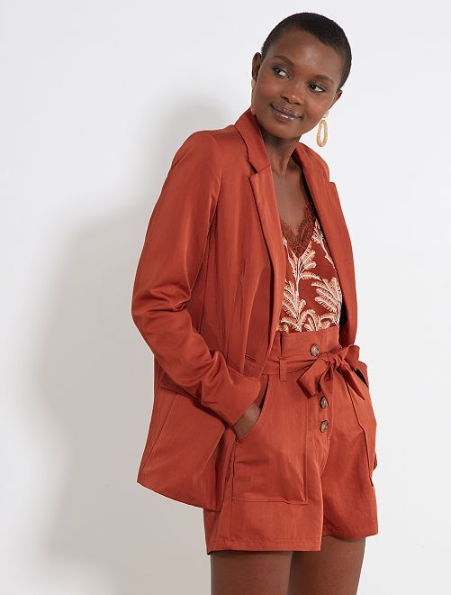 Veste de blazer en Lyocell                                         terracotta Femme