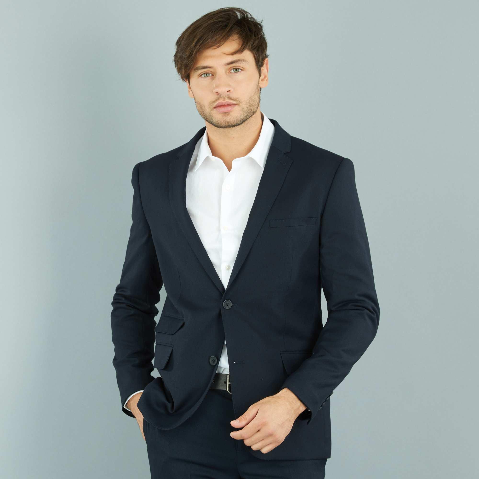 Couleur : gris, bleu, ,, - Taille : 56, 54, 58,52,50Vous apprécierez la coupe slim de cette veste d'été, coupée dans un beau tissu aspect