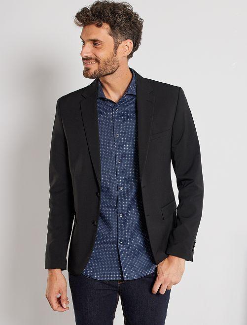Veste de costume extra slim en twill                             noir