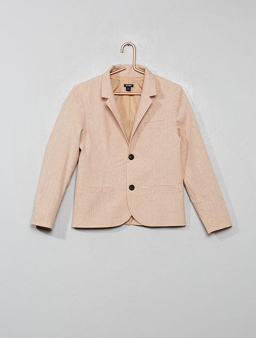 Veste de costume lin et coton                                         beige