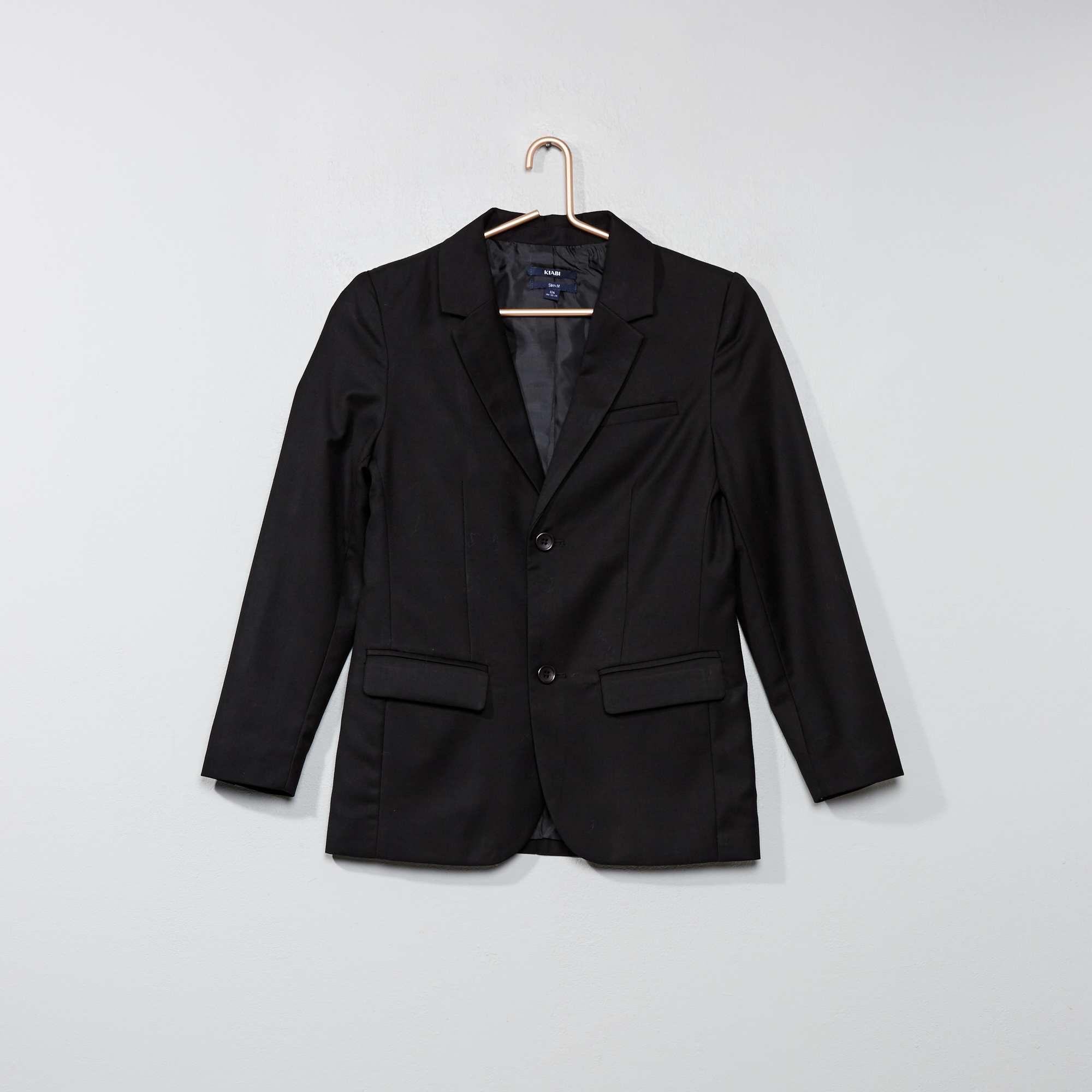 veste de costume gar on adolescent noir kiabi 25 00. Black Bedroom Furniture Sets. Home Design Ideas