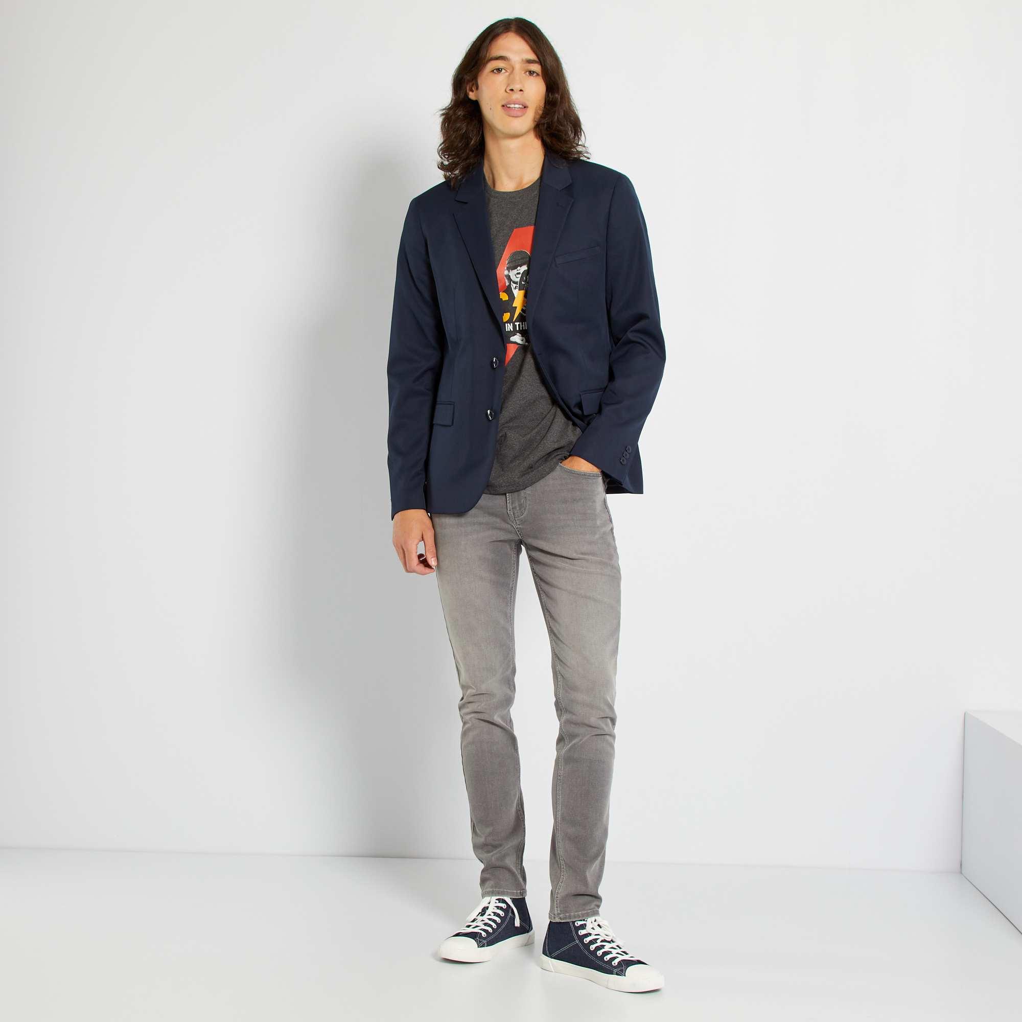 veste de costume regular en twill homme bleu marine kiabi 35 00. Black Bedroom Furniture Sets. Home Design Ideas