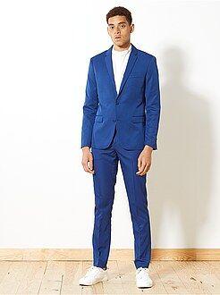 Manteau, veste - Veste de costume slim en twill - Kiabi