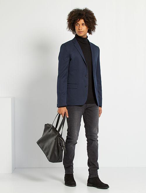 veste de costume slim en twill homme bleu marine kiabi 35 00. Black Bedroom Furniture Sets. Home Design Ideas