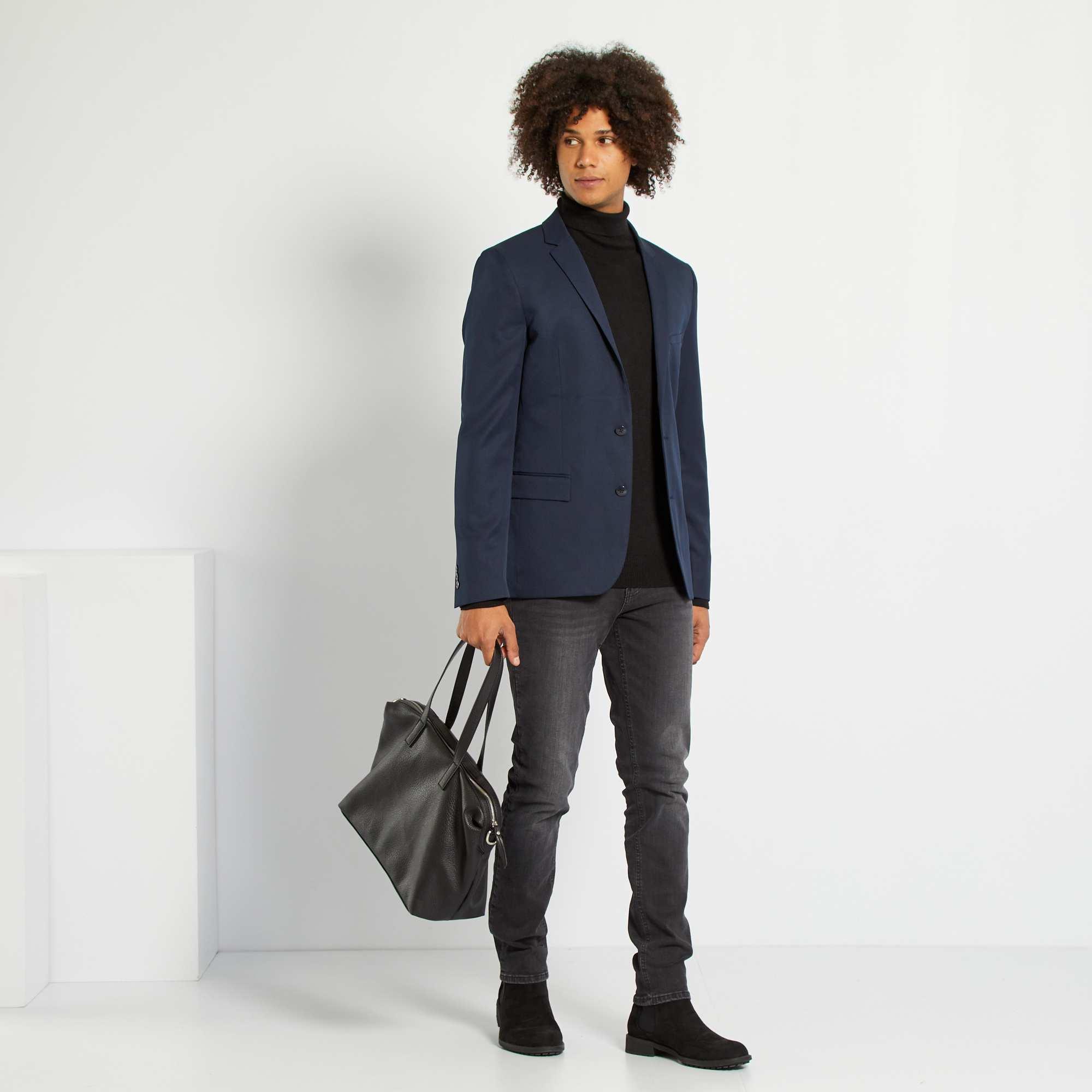 Couleur : noir, bleu marine, bleu,, - Taille : 54, 52, 50,48,46Un look chic à petit prix pour les grandes occasions. - Slim fit / Coupe ajustée -