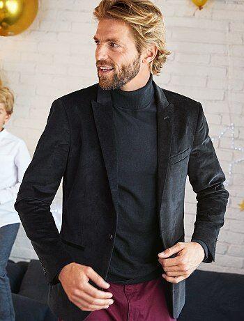 Veste de costume slim en velours