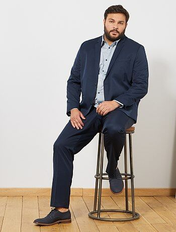 Veste de costume unie coupe droite