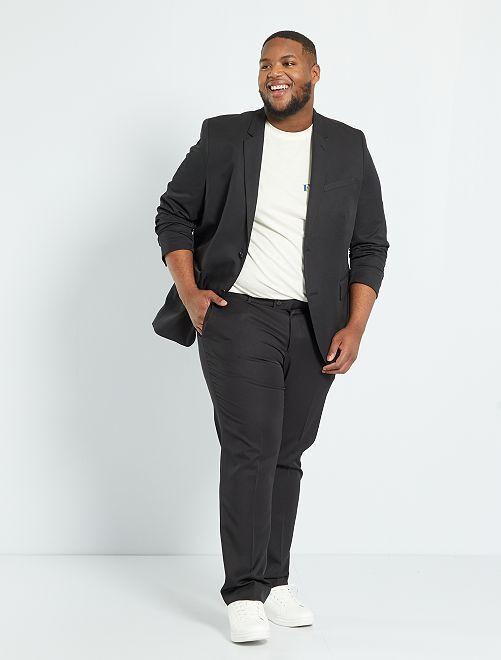 Veste de costume unie coupe droite                                         noir