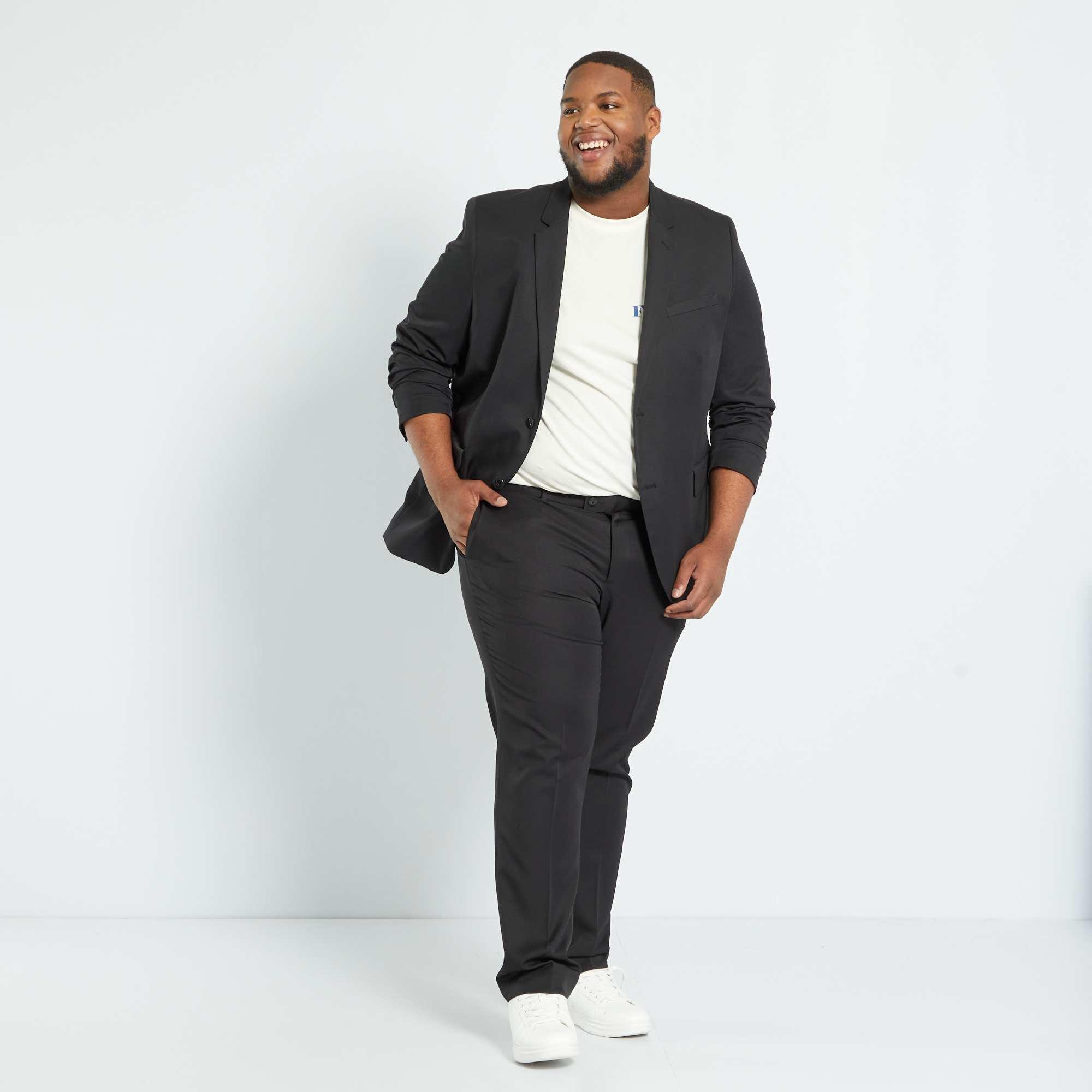 veste de costume unie coupe droite grande taille homme. Black Bedroom Furniture Sets. Home Design Ideas