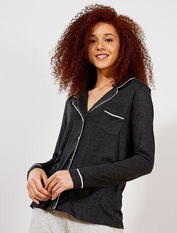 pretty nice 626d4 745c0 veste-de-pyjama-gris-fonce-lingerie-du-s-au-xxl-wm292 4 fr1.jpg