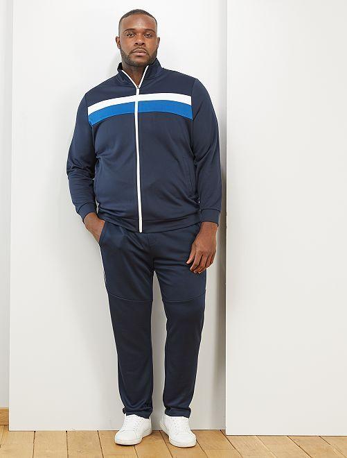 Veste de sport esprit vintage                             bleu marine/blanc/bleu