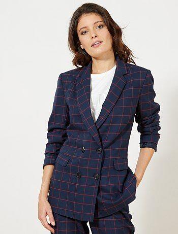 Veste de tailleur à carreaux - Kiabi