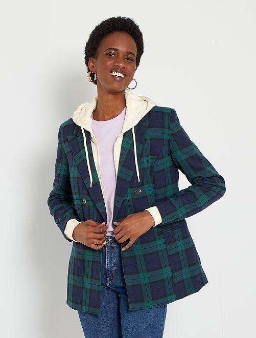 Veste de tailleur à carreaux                                         carreaux vert